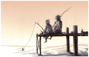 Gone Fishing Paintover by Serain