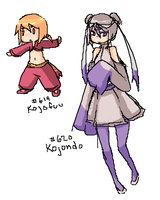 Kojofuu and Kojondo designs by erokero