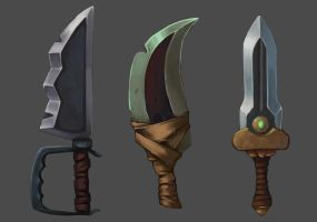 weapons concept by acasali