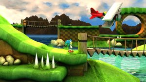 Sonic Green Hill - Early WIP by exojamesm
