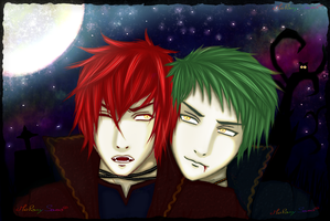 Happy Halloween with vampires! ^w^ by MelanySama
