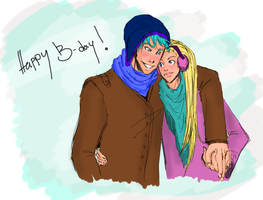 Gift: Teddy and Victoire by SkyDominic
