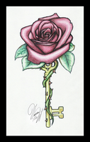 Rose Key Colored by Candrence