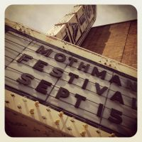 Mothman Festival Theater Sign by tencrowns-studio