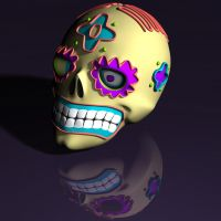 Sugar Skull 3d model by xmas-kitty