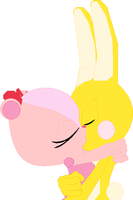 Cuddles and Giggles Kissing by xXPinkKittyPrincesXx
