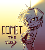 Sonic OC gift - Comet the dog (sketch) by Zummeng