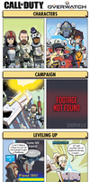 DORKLY: Call of Duty vs. Overwatch by GeorgeRottkamp