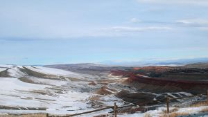 Red Canyon Windriver by michaelgoldthriteart