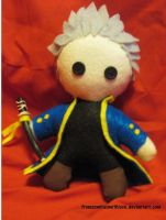 Chibi Vergil Plushie by fromzombieswithlove