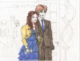 bella and edward at the prom by gureitsu