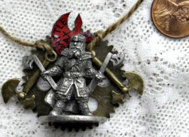 Lord of the Rings Steampunk Gimli Necklace Pendant by elllenjean