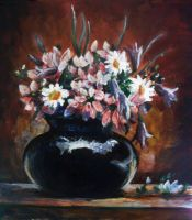 flowers in vase by DariaGALLERY