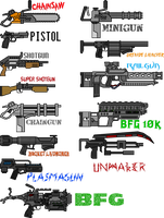 Doom Weapons Redux by NeoMetalSonic360