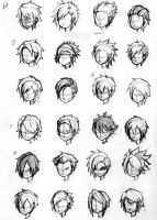 Character Hair Concepts by NoveliaProductions