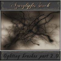lightning brushes part 2.0 by AzurylipfesStock