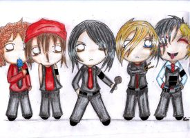 My Chemical Romance Chibis by Gothic-Wolf