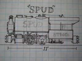 'Spud' On20 Scale Drawing by gunslinger87