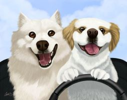 Road Pups by CharReed