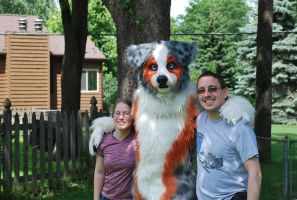 My Hubby and I with TychoAussie by SolitaryGrayWolf
