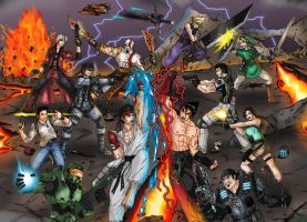 Games Crossover final battle by taresh