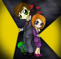 Mulder + Scully by xVanillax