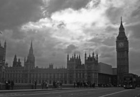 Big Ben BW by loobyloukitty