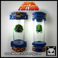 Super Metroid Capsule by VoxelPerlers