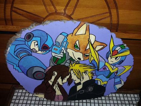 customize gamer acrylic painting on wood by doonlet