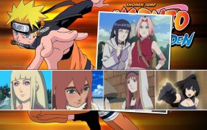 Naruto's Women Wallpaper by weissdrum