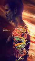 man with tattoo by Califia87