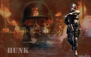 RE2 - HUNK Wallpaper by Frost65
