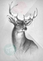 X-Ma$ Cards_deer by 10lohuis