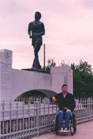 Me at Terry Fox Monument by marcgosselin