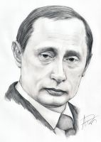 Vladimir Putin Portrait by Skimbleshanks2