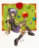 Izono and her crystal balls by xxjust-a-nobodyxx