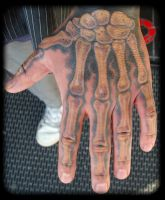 Hand bones  colored by inkjunky5