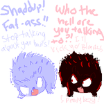 The REAL Shadow and Sonic by minxy