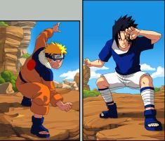 Naruto: Naruto vs Sasuke... by Risachantag