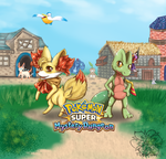 Super Mystery Dungeon Chelinka and Hana'Kohl by tigersylveon