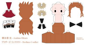 Brothers Conflict Papercraft - Asahina Hikaru by Larry-San