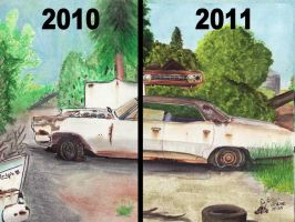 Pontiac Drawing Old and New by FastLaneIllustration