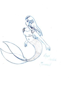 Rough Mermaid Sketch