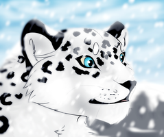 Snow Leopard by KaelaMoon