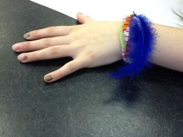 Feather Braclet by HalfWolfStudios