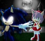 Dark Sonic and Amy by A-M-y-Rose