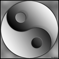Grey Yinyang by Swordgleam