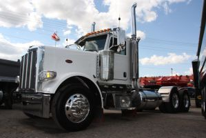 White Peterbilt truck by Wolfje1975