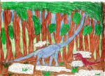 Childhood Drawing: Dinosaurs by x0xChelseax0x