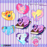 My Little Pony Keychains! by Nephiam